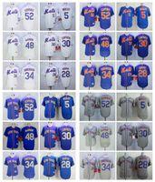 Wholesale Michael New - 2017 New York Mets Baseball Jersey 34 Noah Syndergaard 52 Yoenis Cespedes 5 David Wright 30 Michael Conforto 48 Jacob deGrom Daniel Murphy
