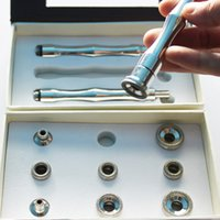 Wholesale Handpiece Kit - 3 whole stainless steel diamond wands and 9 tips diamond peel microdermabrasion handpiece kit