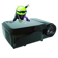 Wholesale Smart Beamer - Wholesale-Smart Android4.4 Wifi Bluetooth 5000lumen Home Theater 1080P LCD Video LED fuLL HD Projector projektor Proyector Projetor Beamer