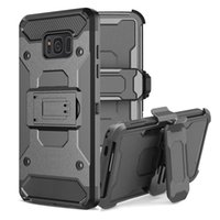 Wholesale Galaxy Note Belt Clip - For Galaxy Note 8 S8 Rugged Armor Case Hybrid Holster Shockproof Kickstand Clip Belt Cover For iphone X 6 6S 7 Plus