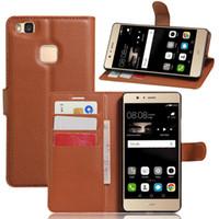 caja del teléfono g9 al por mayor-Cartera PU cuero Filp funda para Huawei P7 P8 P9 Lite G9 G630 Y625 Y550 con ranura para tarjeta marco de fotos bolsa de teléfono