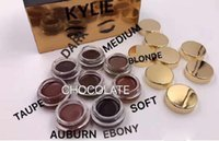 Hot Kylie Jenner Make-up Geburtstag Edition Creme Schatten 8 Farben Dark Taupe Auburn Ebenholz Soft Blonde Augen braun Make-up Lidschatten Von DHL MR300