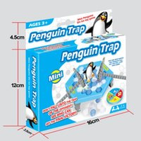 MINI Ice Breaking Save The Penguin Family Fun Game Penguin Trap Activate Funny Table Game Interactive Entertainment Toy b976
