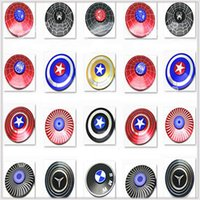 Wholesale Iron Man Hands - Round Metal Avengers Fidget Spinner Supoer Hero Captain America Spiderman Super Man Iron Man hand