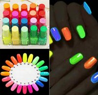 Wholesale Neon Candy Party - Hot Sell 20 Candy Color Fluorescent Neon Luminous Gel Nail Polish for Glow in Dark Nail Varnish Manicure Enamel For Bar Party