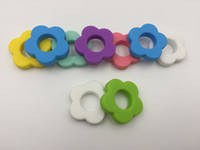 Wholesale Metal Baby Charms - Necklace Pendant Silicone Teething Beads Sunflower Loose Beads Food Grade Silicone Teethers DIY Jewelry Necklace Pendant Baby Teether Charms