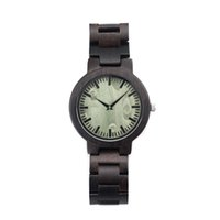 Wholesale Men Watches Eco - Natural Eco-Friendly Black Sandalwood Wooden Watch Fashion Wood Wristwatches for Men and Women Gift Outdoor Sports Watch Wholesale SY-WD220