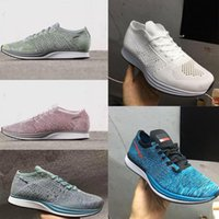 Top Quality Hombres Mujeres Casual Racer Blueberry Pistacho Lavender Zapatos Ligero transpirable Walking Sports Shoes Sneake
