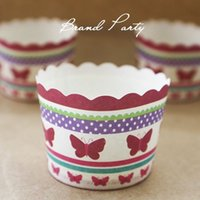 Wholesale Cupcake Cases Bulk - Butterfly bulk High temperature baking paper cups cupcake liners cases wrapper cupcake Muffin paper cases baking cups