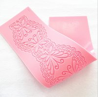 Wholesale Cake Decorating Silicone Lace Molds - 1 pcs lot 100% silicone big size butterfly lace molds,silicone cake decorative tools,cake decorating mold,fondant mould,cake mould,FDA+free