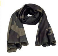 Wholesale Mens Warm Wraps - DHL Camouflage Men Mesh Scarf Autumn Outdoor Jungle Warm Neck Army Muffler Scarfs Winter Mens Military Tactical Shawl Scarves Wrap