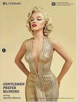 Wholesale Box Monroe - New model Collection Value 40CM2KG Marilyn Monroe 1 4 Gentleman love beauty statue Collection Boxed Model