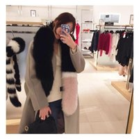 Wholesale Blue Fur Scarf - 2017 women winter newest fashionable scarf luxury brand scarves fox fur scarfs foulards echarpe hiver femme fulares mujer schal luxus mark