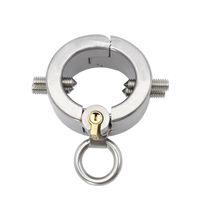 zähne keuschheit großhandel-Edelstahl Cock Ring Anhänger Hodensack Hoden Keuschheitsgürtel Kali Zähne Penis Ringe Sex Spielzeug A149