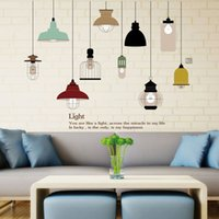 Wholesale Chandelier Wall Stickers - New PVC Removable Art Retro Bulb Chandelier Wall Sticker Decal Mural Room Decor vintage light bulbs decal sticker