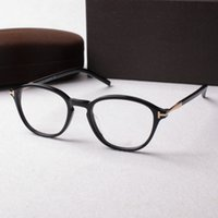 Wholesale spectacles frames resale online - New Retro Clear Lens Optical Frames Glasses Brand Designer Men Women Round Eyeglasses Tom Vintage Plank Spectacle Myopia Eyewear Frame
