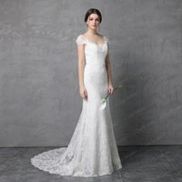 Wholesale Tie Back Sash - Bow Tie Back Lace Wedding Dress Real Photo 2017 New Style Cap Sleeve V Back High Quality