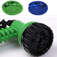 Wholesale Expandable Hose Head - 100FT Triple Expandable Flexible Hoses Garden Water Magic Hose With Spray Nozzle Head Gun Sprayers Car washing Plants watering Factory Price