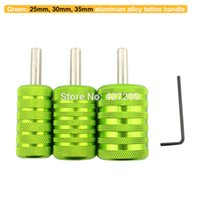 Wholesale Aluminum Tattoo Gun Grips - Wholesale-Free Shipping 3pcs lot Assorted Size Green Aluminum Alloy Tattoo Grips Tubes for Tattoo Machine Gun Tattoo Kits Supplies
