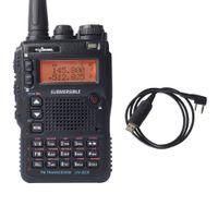 cb walkie al por mayor-Al por mayor-UV-8DR Tri-Band Walkie Talkie 136-174 / 240-260 / 400-520mhz CB RadioTransceptor Ham Radio Commnicater Hermana Yaesu + Cable Talkie