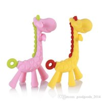 Wholesale Baby Teether Giraffe Design Eco friendly Toys Silicone Infant Toothbrush Silicone Teething For Babie b755