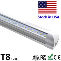 Wholesale V Shaped Led Light Bar - T8 LED Tube 4ft 5ft 6ft 8ft Integrate Cool Door Lighting V Shape LED Light Bar LED Fluorescent Light Rack 100LM W AC85-265V