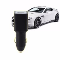 Wholesale mini spy tracker online - High Quality Mini Locator USB Car Charger SPY GPS Real Time GSM GPRS Vehicle Tracking Auto Car GPS Trackers Black White C45