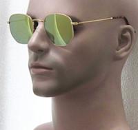 Wholesale Leisure Glasses - New arrive ,fashion iconic women alloy frame Hexagonal flash colorful sunglasses,round metal glass sunglasses ,leisure holiday gafas