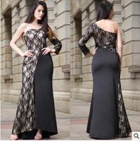 Новый дизайн Lace Summer Dress Women Runway Bandage Dress One-Shoulder Anchle-Length Sequins Bodycon Vestido Sexy Celebrity Party Dress