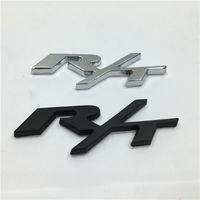 Wholesale Charger Badge - RT R T Black Silver Metal Car Rear Trunk Emblem Badge Sticker for Dodge Challenger Charger