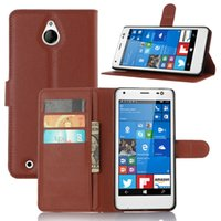 Wholesale Touch Pen For Lumia - For Microsoft Lumia 850 Fashion Litchi Pattern PU Leather Wallet Stand Case Cover with Card Slot+Free Touch Pen