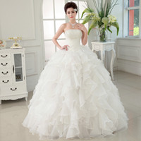 Wholesale Princess Chest - Hot Selling Fashion Wedding Dresses Bride Bandage Drill Lace Princess Dress Wrapped Chest new Ball Gown 2017 Wedding Dresses
