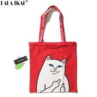 Wholesale Handbag Shoulder Shopper - Wholesale- Ripndip Tote Bag Upgraded Original Brand Summer Beach Bag Canvas Totes Casual Shopper Handbag Shoulder Shopping Bag YIA0373-5
