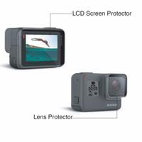 exibição de câmera de ação venda por atacado-Para gopro hero 5 6 7 filme protetor de tela de vidro temperado proteger a tela da câmera display lcd para gopro hero 5 preto action camera acessórios