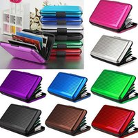 Wholesale Id Card Holder Waterproof - Aluminum ID Credit Card Wallet Holder Antimagnetic Waterproof Aluminum Cards Holder Pocket Wallet Holder Pocket Case YYA139