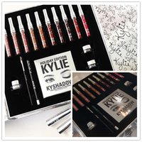 Navidad en stock !! Dropship más nuevo Kylie Cosmetics Holiday Collection Big Box PREMIO INTERNACIONAL Holiday Collection gran caja de envío rápido