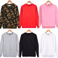 Wholesale Military Standard Colors - Fashion Camouflage Sweatshirt for Men Military Style Capless Hoodies Casual Mens Long Sleeve Street Sportswear 6 Colors S-4XL LX3830