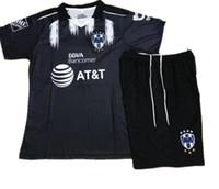 Wholesale Kids Shirt Tiger - 17 18 kids Mexico Club Monterrey UANL black Soccer jersey Kits Home White Away Tigers W.GARGANO Maillot De Foot child Football shirts