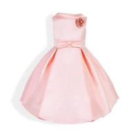 ingrosso vestiti da partito caldi del bambino di colore rosa-Gli abiti caldi della cena delle ragazze di ROSA gli articoli caldi della flora per l'estate di festa adorabile del bambino di 90-130cm celebrano il vestito da festa di compleanno