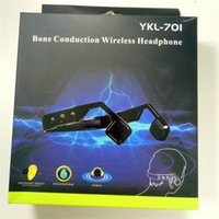 Wholesale Stereo Cell Phone Speaker - YKL-701 Bluetooth 4.1 Bone Conduction Wireless Headphone Speakers Stereo Headset Noise Cancelling Waterproof Sports Headphone For Ourdoor