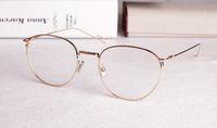 Wholesale Super Gold Glasses - Super Light Eyeglasses Vintage big Round Frame Eyewear Brand Optical Prescription Glasses Frame Oculos De Grau 0207