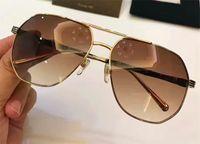 Wholesale Leg Shapes - New fashion men designer sunglasses metal square frame Bamboo-shaped legs top quality uv protection eyewear 10027