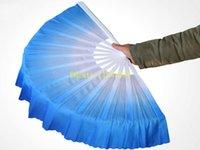 seda bailando al por mayor-10 unids / lote Envío Gratis Nueva Llegada de la danza china ventilador velo de seda 5 colores disponibles Para la Boda del favor del favor del partido