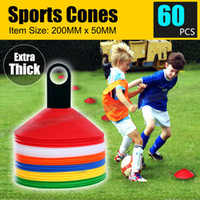 60 DISC MARKERS TRAINING CONES FUSSBALL FUSSBALL RUGBY AFL TOUCH GRUPPE FITNESS NEU