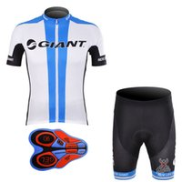 Wholesale Cycling Jersey Set Giant - Summer man GIANT team cycling jersey (bib)shorts sets Ropa de Ciclismo 9D GEL Pad  Breathable Quick-Dry Bike Clothing A133