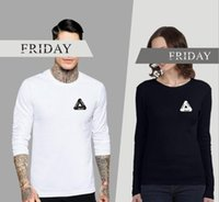 Wholesale Browning Tripod - 2017 hot sales spring and autumn PALACE tripod skateboard t-shirt kanye west casual round neck long sleeve t-shirt