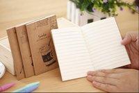sevimli mini kitaplar toptan satış-Toptan-60 Adet / takım GENKKY Yaratıcı sevimli kırtasiye sevimli küçük kitap karikatür hattı, not defteri dizüstü