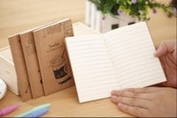 Wholesale kraft notebooks wholesale - Wholesale- 60PCS set GENKKY Creative cute stationery cute little book cartoon line of this, notepad notebook