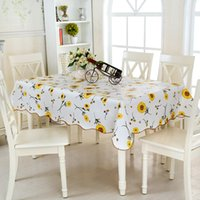 Wholesale Flower Tablecloths - PVC Waterproof Tablecloth High Quality Flowers Anti Scald Wear Resisting Dinner Mat Household Decorate Hot Sale 7 5st J