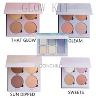 Wholesale Sun Glow Wholesale - Makeup blush Ana Glow Kit Blusher Powder Face Palette cosmetic that Glow Gleam Sun Dipped Sweets Moon Child 5 Colors Highlight free DHL